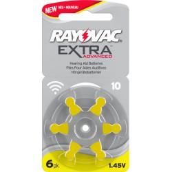 60 pile Rayovac Extra Advanced Misura 10 PR70 Colore Giallo