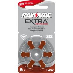6 Pile Rayovac Extra Advaced Misura 312 PR41 Colore Marrone
