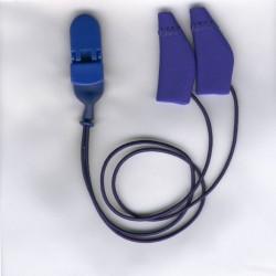 Ear Gear Mini Curved con corda Blu